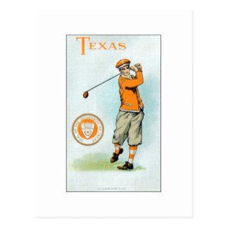 Murad College Series - 1910 - Texas Golfer Postcard