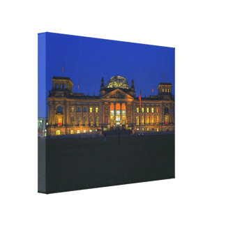 Mural Berlin Reichstag in the evening Canvas Print