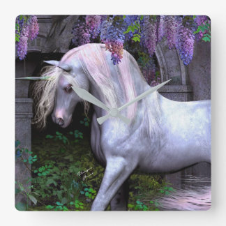 Mural clock Unicorn Magic