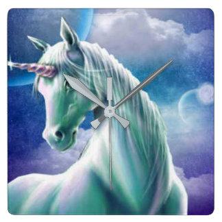 Mural clock Unicorn Moon Star