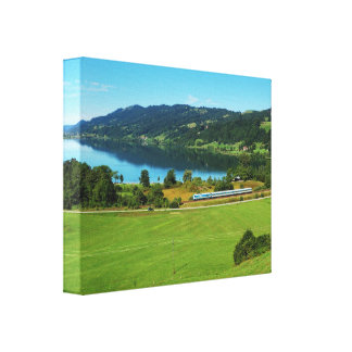 Mural of large Alpsee Canvas Print