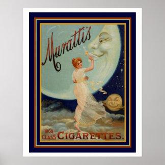Murattis High Class Cigarettes Ad 16 x 20 Poster