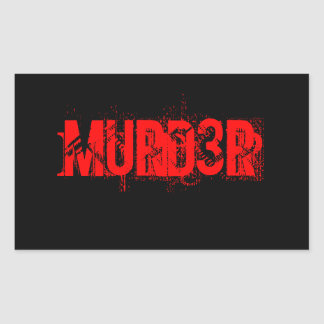 MURD3R sticker
