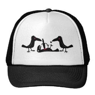 murder crows trucker hat