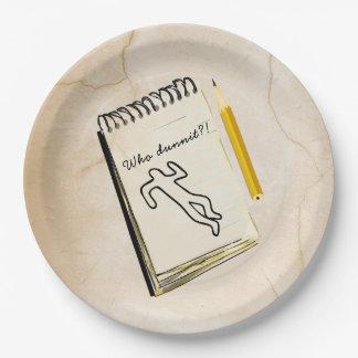 Murder Mystery Paper Plates Crime Scene Customized
