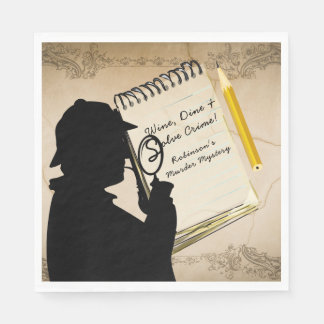 Murder Mystery Party Napkins Personalized 2 Disposable Napkins