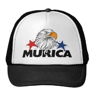 Murica bald eagle trucker hat