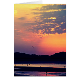 Murlough Beach Sunrise  - Happy Birthday Card
