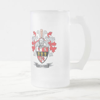 Murphy Coat of Arms Frosted Glass Beer Mug