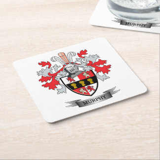 Murphy Coat of Arms Square Paper Coaster
