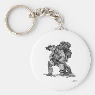Murphy Elliott-Praying Soldier Basic Round Button Keychain