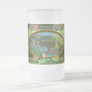 Murphy Family Banner Frosted Glass Beer Mug