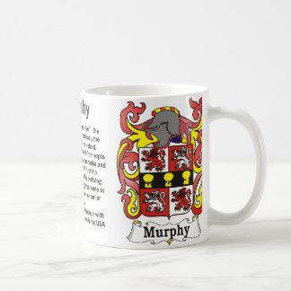 Murphy Family Crest on a mug