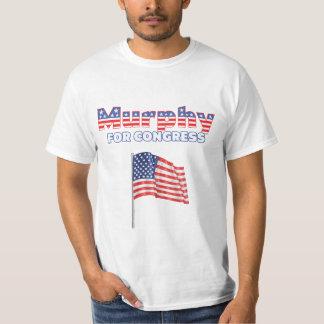 Murphy for Congress Patriotic American Flag Design T-Shirt