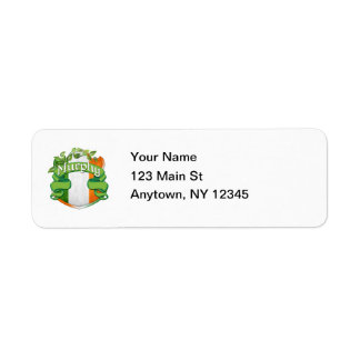 Murphy Irish Shield Return Address Label