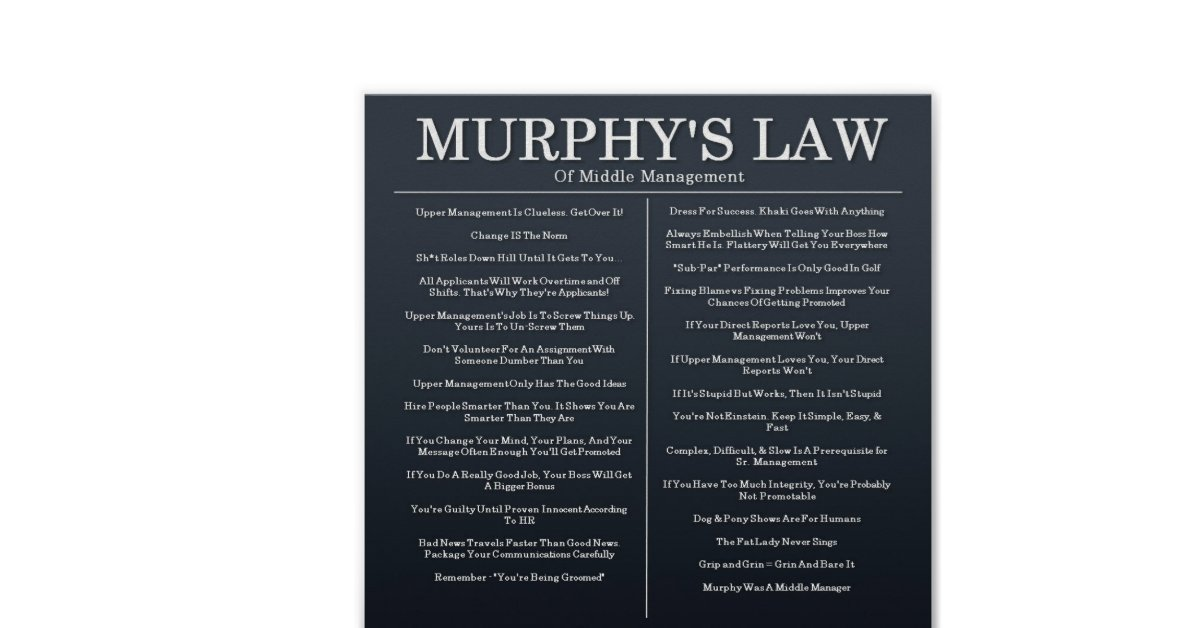 murphys law essays I've argued before in this space that republicans' continued opposition to  marijuana legalization could start costing the party's candidates.