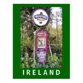 Murphy's Old Irish Petrol Pump Postcard