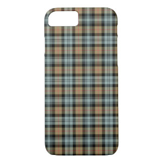 Murray Clan Tan and Mint Green Reproduction Tartan iPhone 8/7 Case