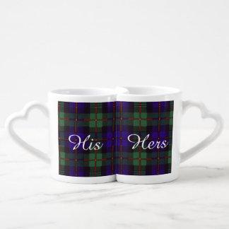 Murray clan tartan scottish plaid coffee mug set