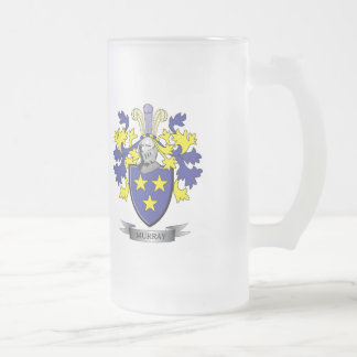 Murray Coat of Arms Frosted Glass Beer Mug