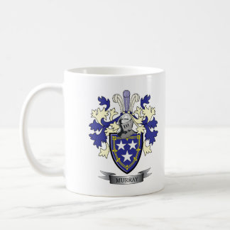 Murray Family Crest Coat of Arms Coffee Mug