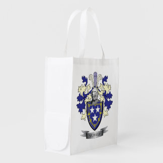 Murray Family Crest Coat of Arms Market Totes