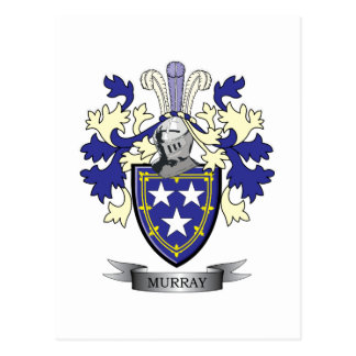 Murray Family Crest Coat of Arms Postcard