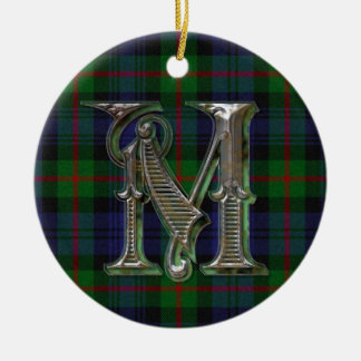 Murray Plaid Monogram ornament