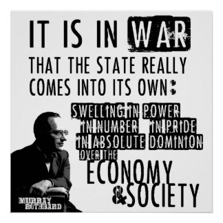 Murray Rothbard Anti-War Anti-State Libertarian Poster