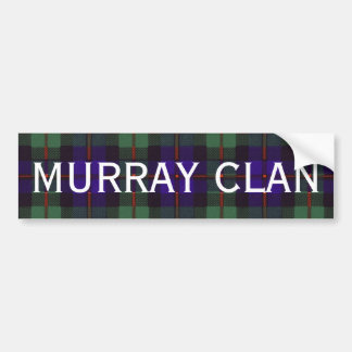 Murray Scottish Tartan Bumper Sticker