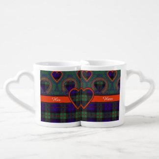 Murray tartan scottish plaid coffee mug set
