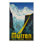 Murren Switzerland Vintage Travel Poster