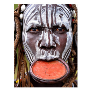 Mursi Woman with Lip Plate Postcard