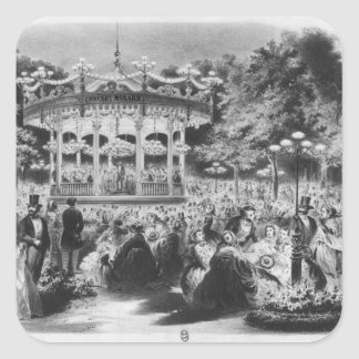 Musard concert at the Champs-Elysees, 1865 Square Sticker