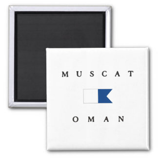 Muscat Oman Alpha Dive Flag Magnet