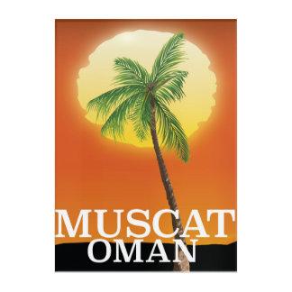 Muscat Oman vacation poster Acrylic Wall Art