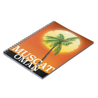 Muscat Oman vacation poster Notebook