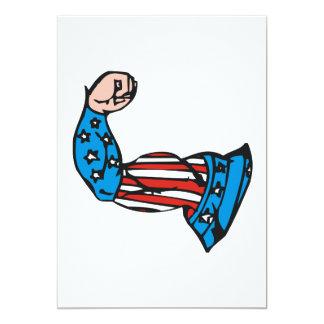 Muscle américain carton d'invitation  12,7 cm x 17,78 cm