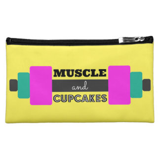 Muscle and Cupcakes Weight Makeup Bag