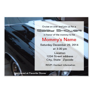 "Muscle Car Baby Shower Invitation 3.5"" X 5"" Invitation Card"