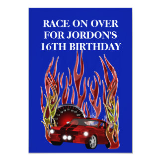 MUSCLE CAR BIRTHDAY PARTY CARD