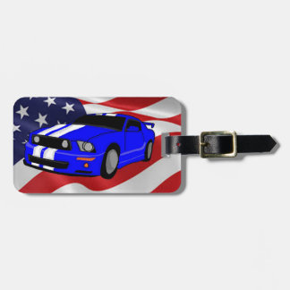 Muscle car design luggage tag