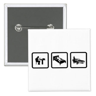 Muscle Car Lover Buttons