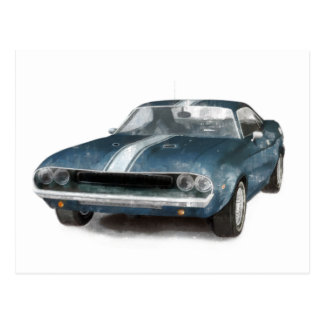 Muscle Car Postcard