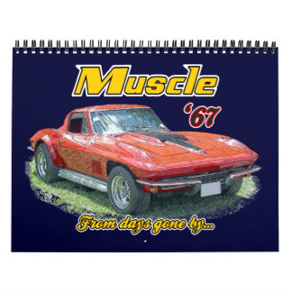 Muscle Cars From the Past Calender Wall Calendars