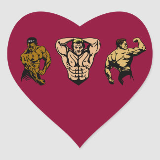 Muscle Crew - Strike a Pose Heart Sticker