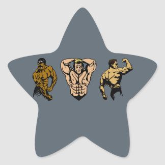 Muscle Crew - Strike a Pose Star Sticker
