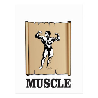 muscle form meat postcard