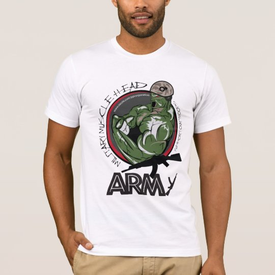 Muscle Head Military Army Division T-Shirt