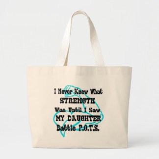 Muscle/I Never Knew...Daughter Large Tote Bag